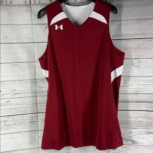 Under Armour Red White reversible jersey tank top
